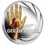 James Bond -007 ja Kultasormi. Tuvalu 1/2 $ 2021. 99,9% hopearaha väripainatuksella, 15,53 g