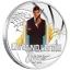 """""""Джеймс Бонд - Живи и дай умереть"""". Тувалу 1/2 $ 2021 года. 99,99% серебряная монета с цветной печатью, 15,553 гp."""
