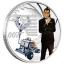 James Bond - Diamonds are Forever. Tuvalu 1/2$ 2021 coloured 99,9% silver coin. 15,53 g.