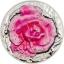 Roosa roos kastepiisaga - Palau 10$ 2017.a.  2untsine kõrgrelieeftehnikas 99,9% hõbemünt