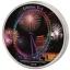 London Eye vaateratas- Elevandiluuranniku 2000 Fr 2018.a. värvitrükis  99,9% hõbemünt,  62,2 g