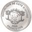 London Eye -Лондонский глаз - Кот-д 'Ивуар 200 Fr 2018.г 99.9% серебряная монета с цветной печатью, 62.2 г