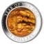 Koera aasta 2018 - Cooki saarte 25$, 5-untsine 99,9% hõbemünt ehtsa  pärlikarbi sisuga