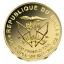Мон-Сен-Мишель -Мали 100 франков 2017 г.  99,9% золотая монета 0,5 гр