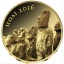Moaid -Chad 3 000 Fr. 2016.a. 99,9%  kuldmünt 0,5 g