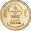 Roti aasta 2020 - Mongoolia 1000 Tugrikut 99,99 % kuldmünt - 0,5 g