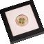 """""""Удачи!"""" - Палау.5$ 2022 г. 92,5% серебряная монета с позолотой и настоящим листом клевера."""