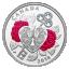 """""""Armastuse tähtpäev - Võti minu südamesse"""" - Kanada Rahapaja 2018.a.  99.9% hõbemüntSwarovski kristallidega  7.96 g"""