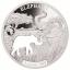 Aafrika loomad - Elevant - Djibouti 250 $ 2018.a  1 untsine laserlõikega 99,9% hõbemünt