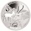 «Животные Африки - Газель»,  Джибути 250$ 2018 г. 99,9% серебряная монета с безупречным разрезом, 31.1 г.