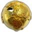 Teemant gloobusel - ehtsa teemantiga kullatud gloobuse-kujuline Niue saarte 2017.a. 2 untsine 92,5% hõbemünt