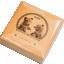 """""""Бурый медведь"""" - Монголия 500 тугрик 2019 г. 99,9% серебряная монета с антик обработкой и кристаллами Swarovski®, 1 унция"""