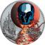 Kristallikallo - La Luna de Sangre, Päiväntasaajan Guinea  1000 Fr,. 2019.v. antiikkipatinoinoitu 99,9% hopearaha väripainatuksella, Swarovski® kristalli, 1 unssi