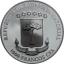 Череп - Экваториальная Гвинея 1000  франк 2019 г. 99,9% серебряная монета с антик обработкой,  с цветной печатью и кристаллами Swarovski®