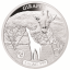 Shapes of Africa. Cut-Out Silver Coin Collection Giraffe. Djibouti 250 Fr 2019. 99,9% silver coin 1 oz