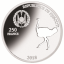 Shapes of Africa. Cut-Out Silver Coin Collection Ostrich. Djibouti 250 Fr 2019. 99,9% silver coin 1 oz