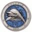 «Подводный мир -Дельфин» - Барбадос 5$  2019 г.  99,9% серебряная монета выполнена в технике цветной печати с ультра высоким рельефом. 3 унции