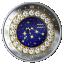 Sodiaagimärgid - Veevalaja - Kanada 5$ 2019.a. 99,99% hõbemünt Swarovski® kristallidega