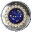 Sodiaagimärgid -Kaljukits Kanada 5$ 2019.a 99,9% hõbemünt Swarovski® kristallidega 7.96 g