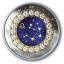 Horoskooppimerkit - Vaaka - Kanada  5 $ 2019 v. 99,99% hopearaha, Swarovski® kristallia, 7,96 g