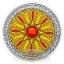 Мандала дружбы- 99,9% серебряная медаль с цветной печатью и  кристаллами  16. г