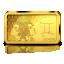 Horoskooppimerkit - Kaksonen - Salomonsaaret 10 $ 2020.v. 99,99% kultaraha 0,5 g