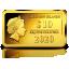 Знаки зодиака -Лев. Соломоновы Острова 10 $ 2020 г. 99,99% золотая монета. 0,5г
